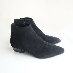 Aquatalia 'The Fire' Suede Ankle Booties Black